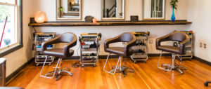 salon chairs in downtown frederick