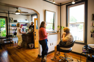 hair stylists and customer