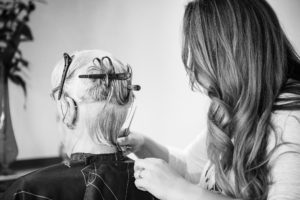 styling client hair